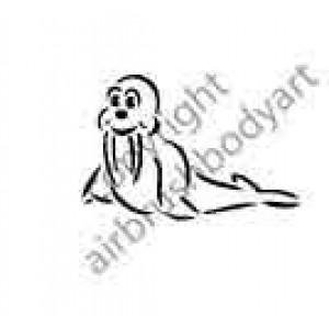 0287 walrus reusable stencil